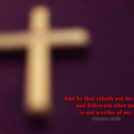 Matthew 10:38 Wallpaper