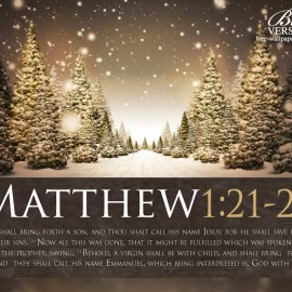 Matthew 1:21-23 Wallpaper
