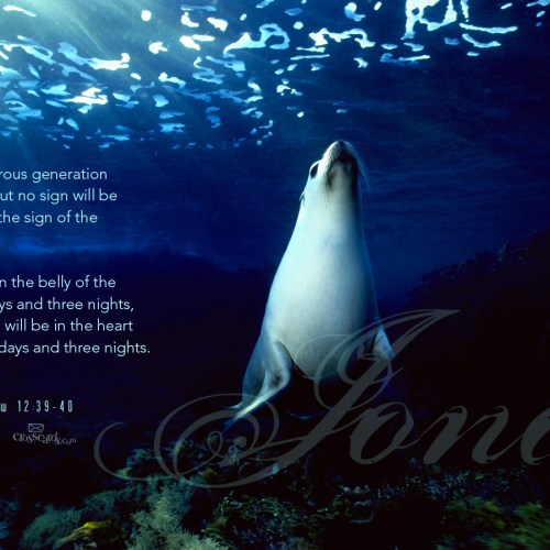 Matthew 12:39-40 christian wallpaper free download. Use on PC, Mac, Android, iPhone or any device you like.