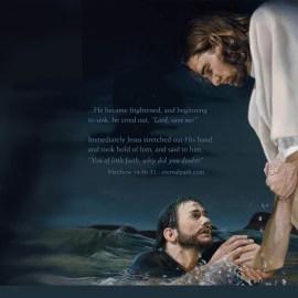 Matthew 14:30-31 Wallpaper