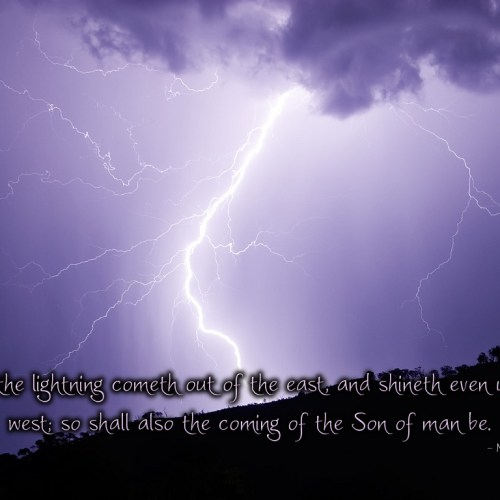 Matthew 24:27 christian wallpaper free download. Use on PC, Mac, Android, iPhone or any device you like.