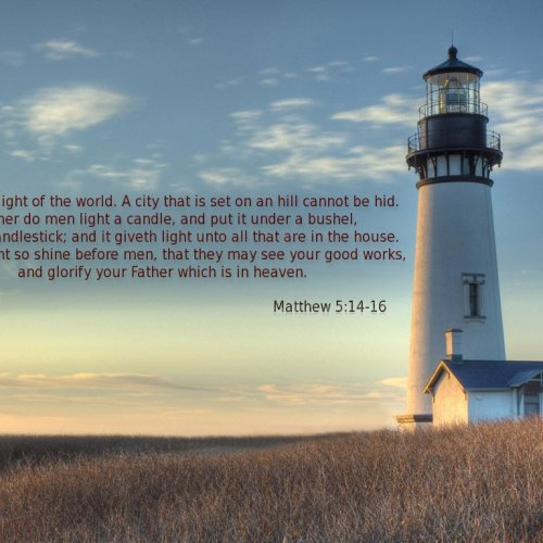 Matthew 5:14-16 christian wallpaper free download. Use on PC, Mac, Android, iPhone or any device you like.