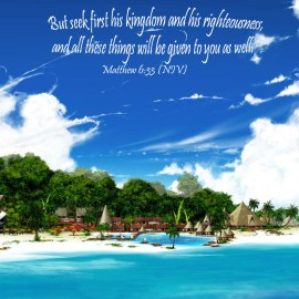 Matthew 6:33 Wallpaper