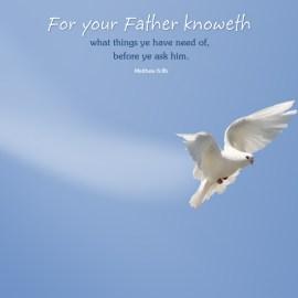 Matthew 6:8b Wallpaper