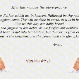 Matthew 6:9-13 Wallpaper