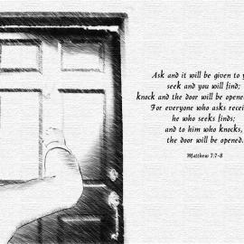 Matthew 7:7-8 Wallpaper