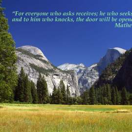 Matthew 7:8 Wallpaper