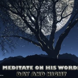 Meditate on His words Wallpaper