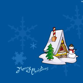 Merry Christmas – Snowing Wallpaper
