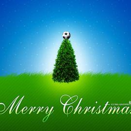 Merry Christmas – Soccer Wallpaper