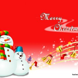 Merry Christmas – with snow! Wallpaper