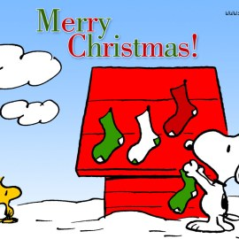 Merry Christmas from Snoopy Wallpaper