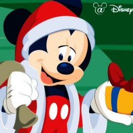 Mickey Santa Wallpaper