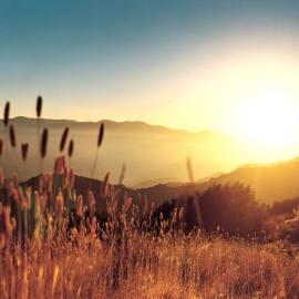 Mountain Sun Wallpaper