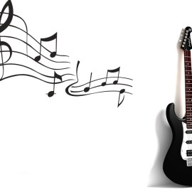Music and Guitar Wallpaper