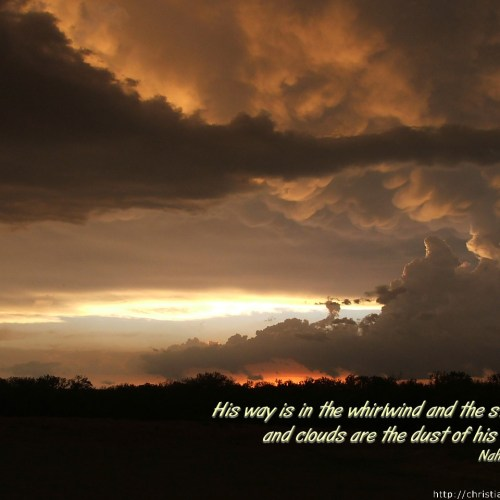 Nahum 1:3 christian wallpaper free download. Use on PC, Mac, Android, iPhone or any device you like.