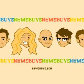 Newsboys cartoon Wallpaper