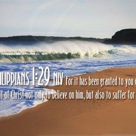 Philippians 1:29 Wallpaper