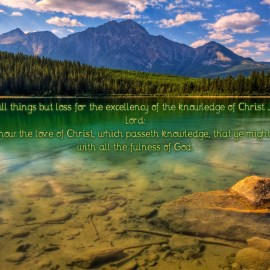 Philippians 3:8 and Ephesians 3:19 Wallpaper