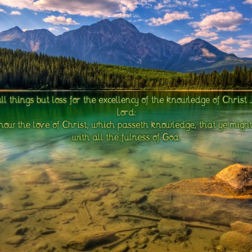 Philippians 3:8 and Ephesians 3:19 christian wallpaper free download. Use on PC, Mac, Android, iPhone or any device you like.