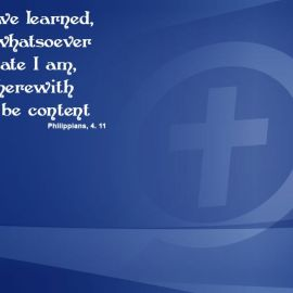 Philippians 4:11 Wallpaper