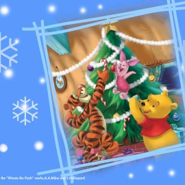 Pooh and Christmas Wallpaper