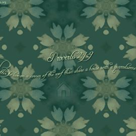 Proverbs 21:9 Wallpaper
