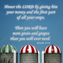 Proverbs 3:9-10 Wallpaper