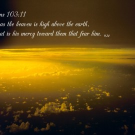 Psalm 103:11 Wallpaper