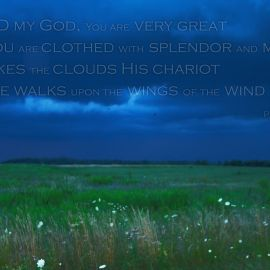 Psalm 104:1-3 Wallpaper