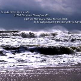 Psalm 107:29-30 Wallpaper