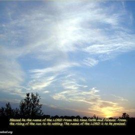 Psalm 113:2-3 Wallpaper