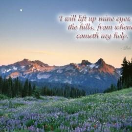 Psalm 121:1 Wallpaper