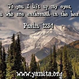 Psalm 123:1 Wallpaper