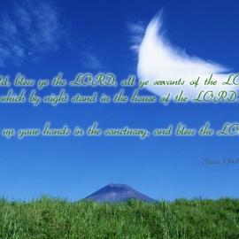 Psalm 134:1-2 Wallpaper