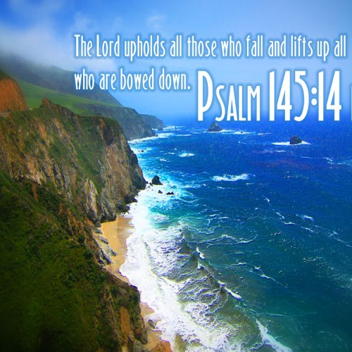 Psalm 145:14 christian wallpaper free download. Use on PC, Mac, Android, iPhone or any device you like.