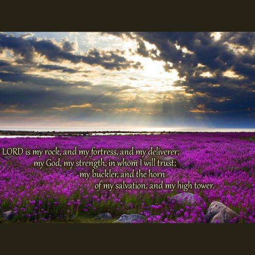 Psalm 18:2 christian wallpaper free download. Use on PC, Mac, Android, iPhone or any device you like.
