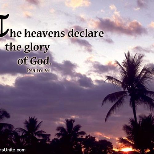 Psalm 19:1 christian wallpaper free download. Use on PC, Mac, Android, iPhone or any device you like.