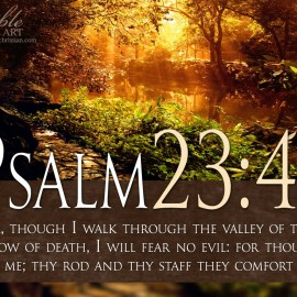 Psalm 23:4 Wallpaper