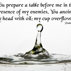 Psalm 23:5 Wallpaper