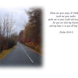 Psalm 25:4-5 Wallpaper