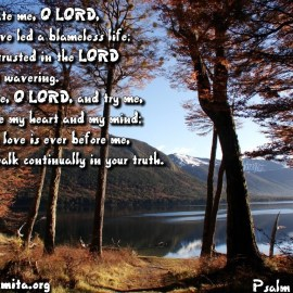 Psalm 26:1-3 Wallpaper