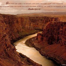 Psalm 29:1-2 Wallpaper