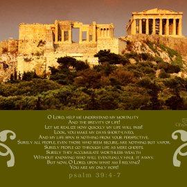 Psalm 39:4-7 Wallpaper