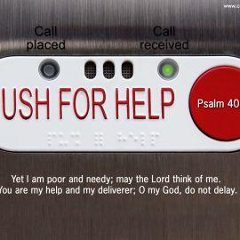 Psalm 40:17 Wallpaper