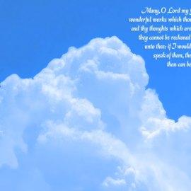 Psalm 40:5 Wallpaper