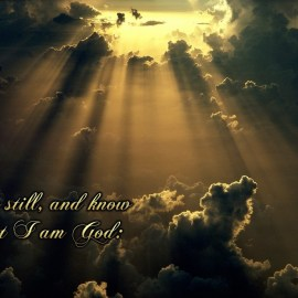 Psalm 46:10 Wallpaper
