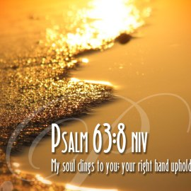 Psalm 63:8 Wallpaper