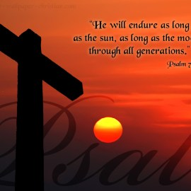 Psalm 72:5 Wallpaper