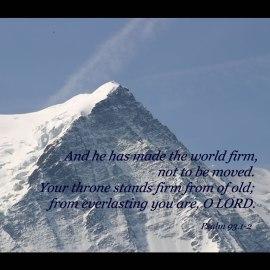 Psalm 93:1-2 Wallpaper